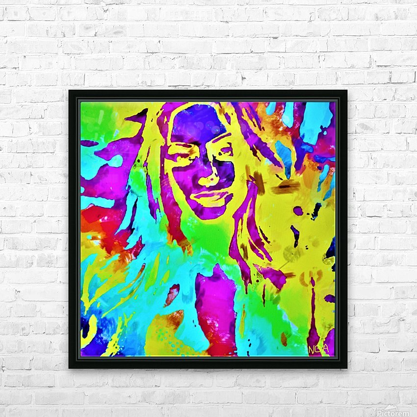 Abstract Girl - by Neil Gairn Adams HD Sublimation Metal print with Decorating Float Frame (BOX)