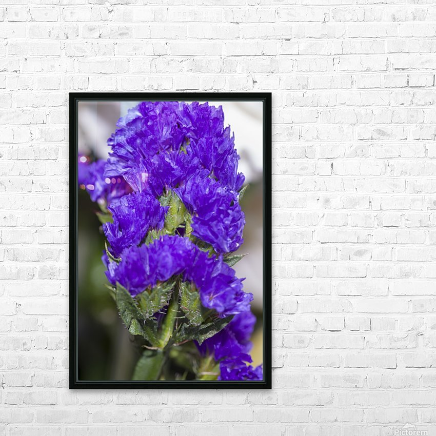 Purple Statice Flower HD Sublimation Metal print with Decorating Float Frame (BOX)