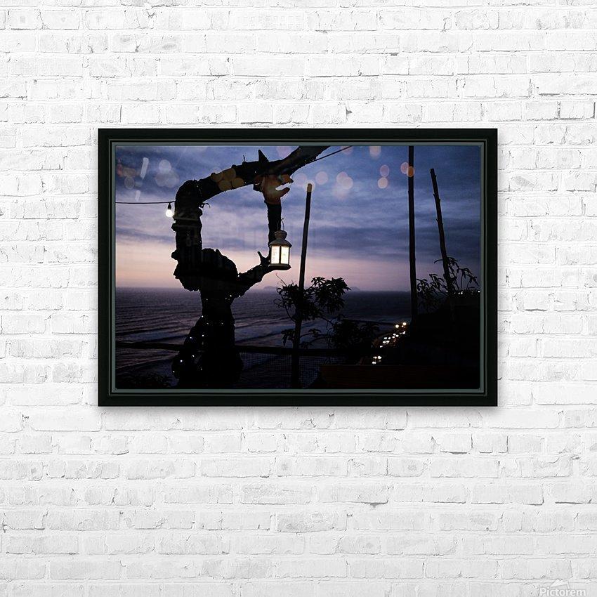 Lanterne de Lima HD sublimation métal imprimé avec décoration flotteur cadre (boîte)