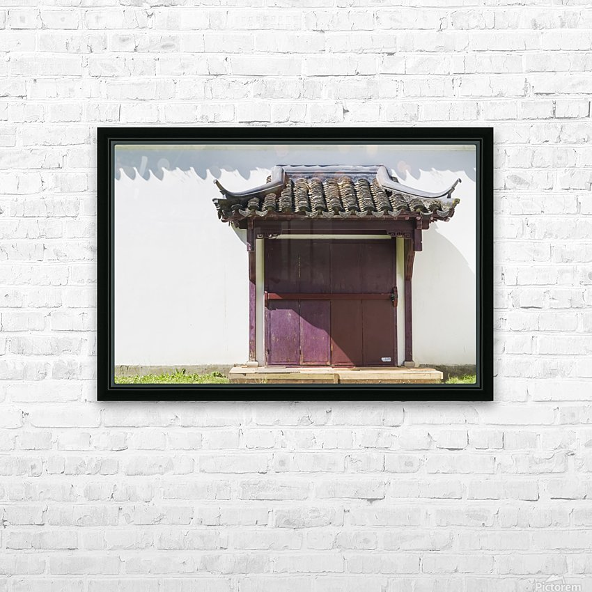 Asian Style Door and Portico HD Sublimation Metal print with Decorating Float Frame (BOX)