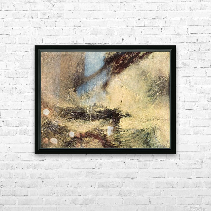 Steamboat signalling by Joseph Mallord Turner HD Sublimation Metal print with Decorating Float Frame (BOX)