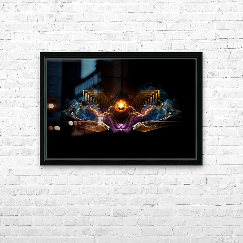 Treasure Of Night Fractal Art HD Sublimation Metal print with Decorating Float Frame (BOX)