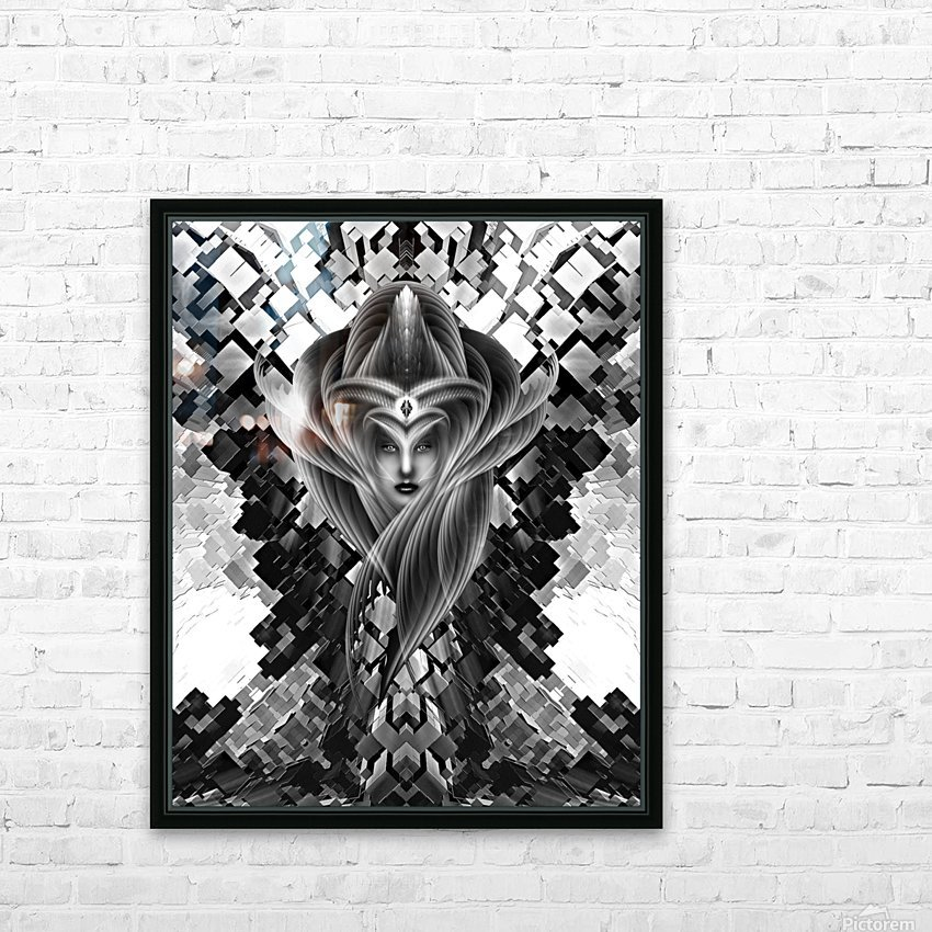 Mistress Of The Cuboid BW HD Sublimation Metal print with Decorating Float Frame (BOX)