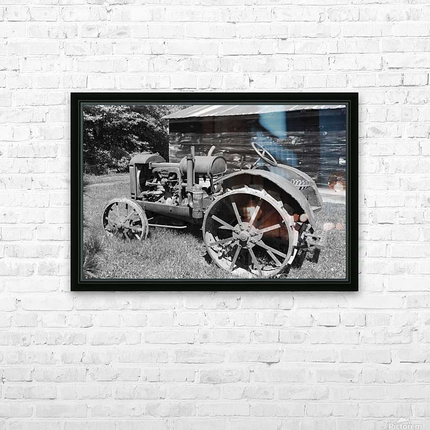 McCormick-Deering gasoline tractor 2 B&W HD Sublimation Metal print with Decorating Float Frame (BOX)