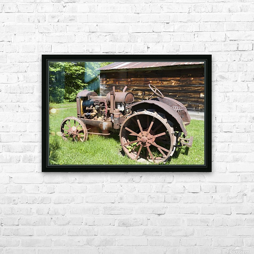 McCormick-Deering gasoline tractor 2 HD Sublimation Metal print with Decorating Float Frame (BOX)