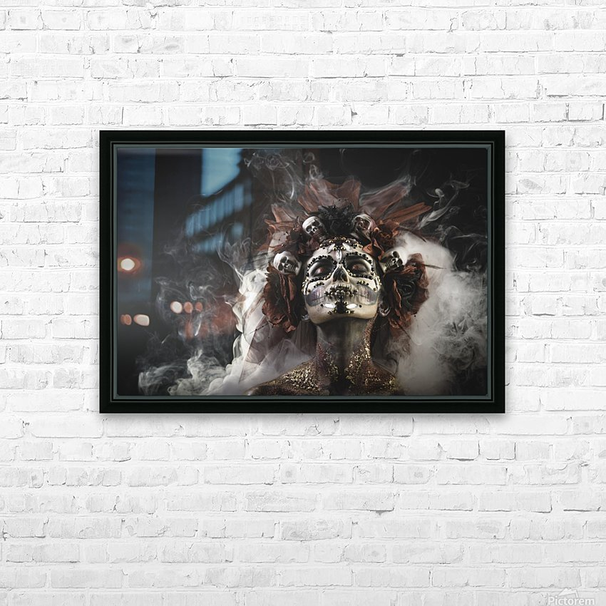 Young girl in the image of Santa Muerte HD Sublimation Metal print with Decorating Float Frame (BOX)