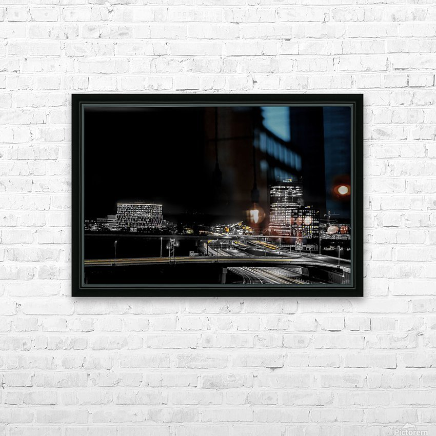 Hot lights on a Cold Night  HD Sublimation Metal print with Decorating Float Frame (BOX)