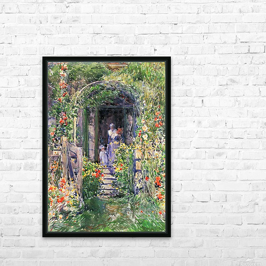 Isles of Shoals Garden by Hassam HD Sublimation Metal print with Decorating Float Frame (BOX)