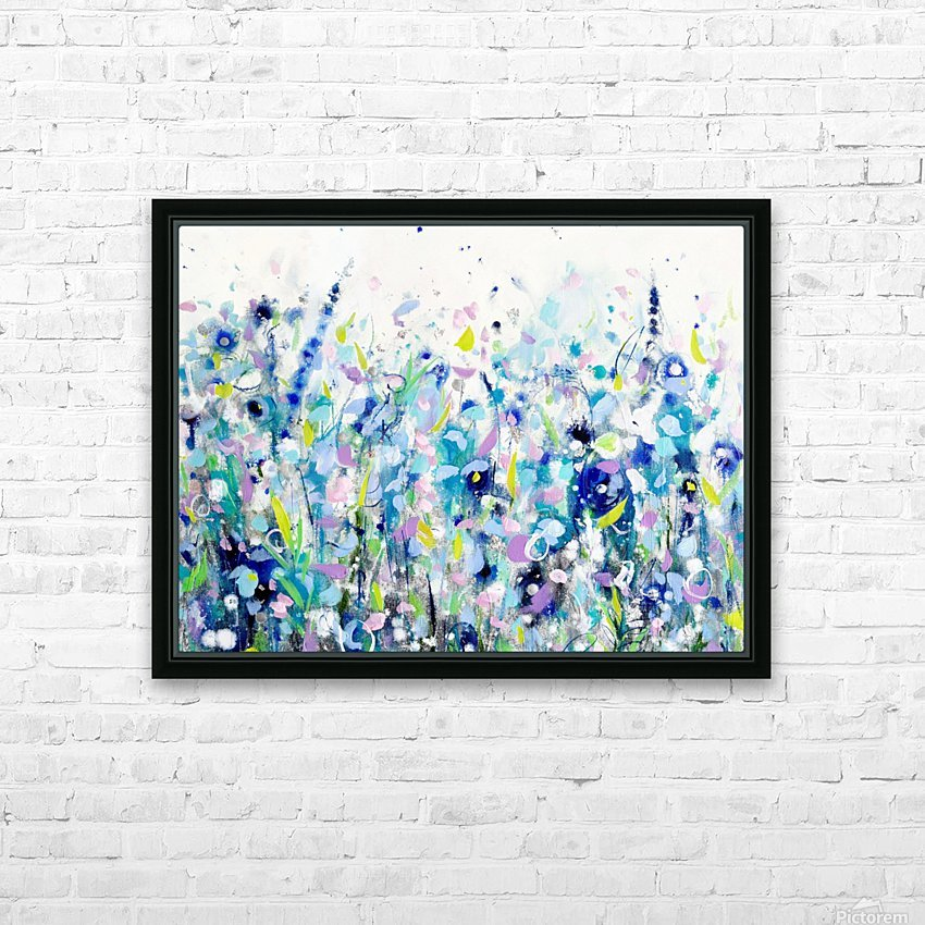Ultramarine Meadow HD Sublimation Metal print with Decorating Float Frame (BOX)