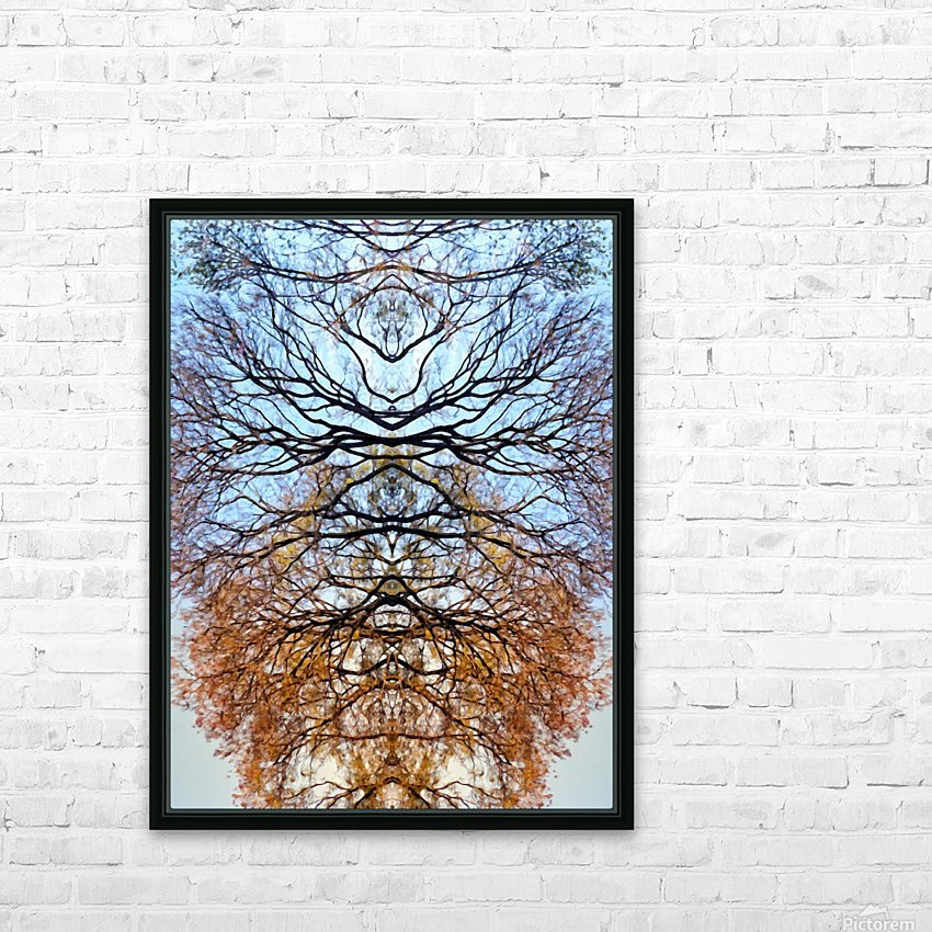Abstract 4 HD Sublimation Metal print with Decorating Float Frame (BOX)