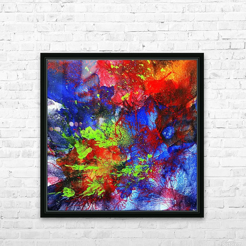 Color Explosion HD Sublimation Metal print with Decorating Float Frame (BOX)