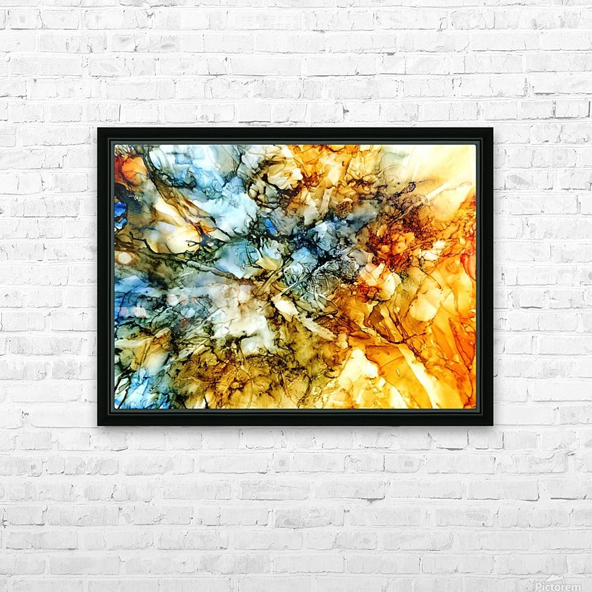 Sediment HD Sublimation Metal print with Decorating Float Frame (BOX)