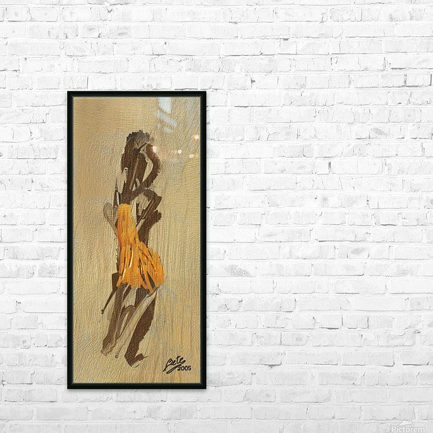 Yellow dress HD Sublimation Metal print with Decorating Float Frame (BOX)