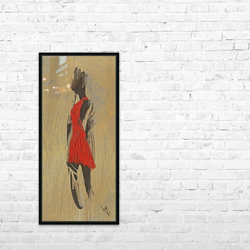 Red dress HD Sublimation Metal print with Decorating Float Frame (BOX)