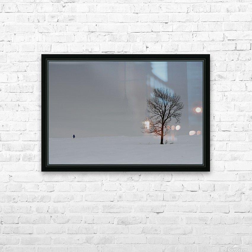 Marche hivernale HD sublimation métal imprimé avec décoration flotteur cadre (boîte)