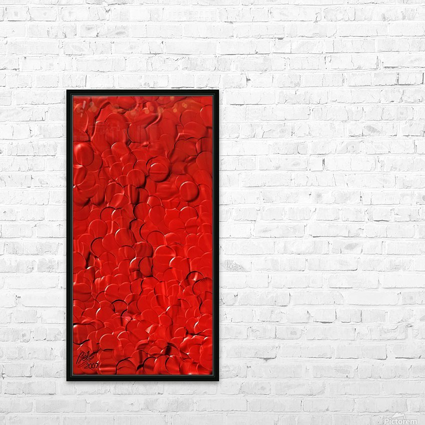 Red cells HD Sublimation Metal print with Decorating Float Frame (BOX)