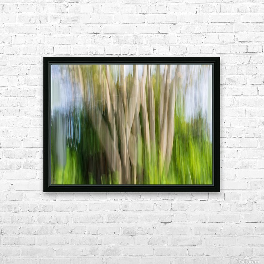 Moving Trees 30 Landcape 52 70 200px HD Sublimation Metal print with Decorating Float Frame (BOX)