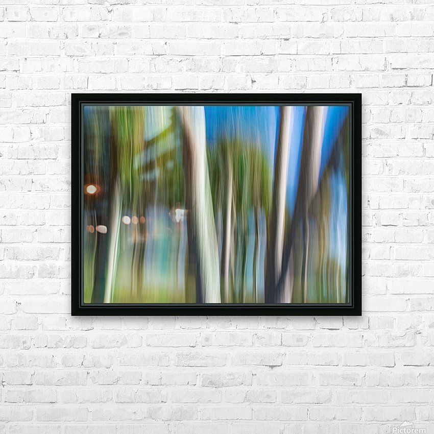 Moving Trees 31 Landcape 52 70 200px HD Sublimation Metal print with Decorating Float Frame (BOX)