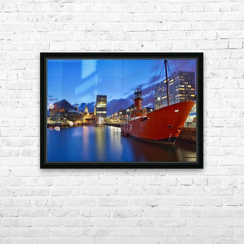 LIV 003 Liverpool Dock HD Sublimation Metal print with Decorating Float Frame (BOX)