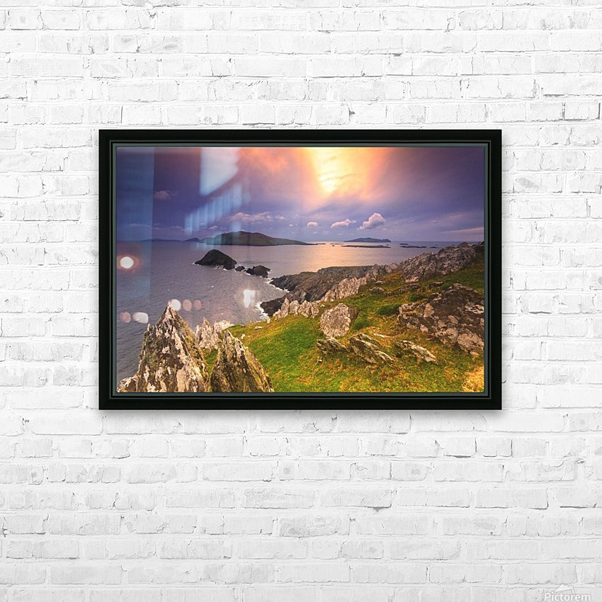 KY 602 Blasket Island Sunset HD Sublimation Metal print with Decorating Float Frame (BOX)