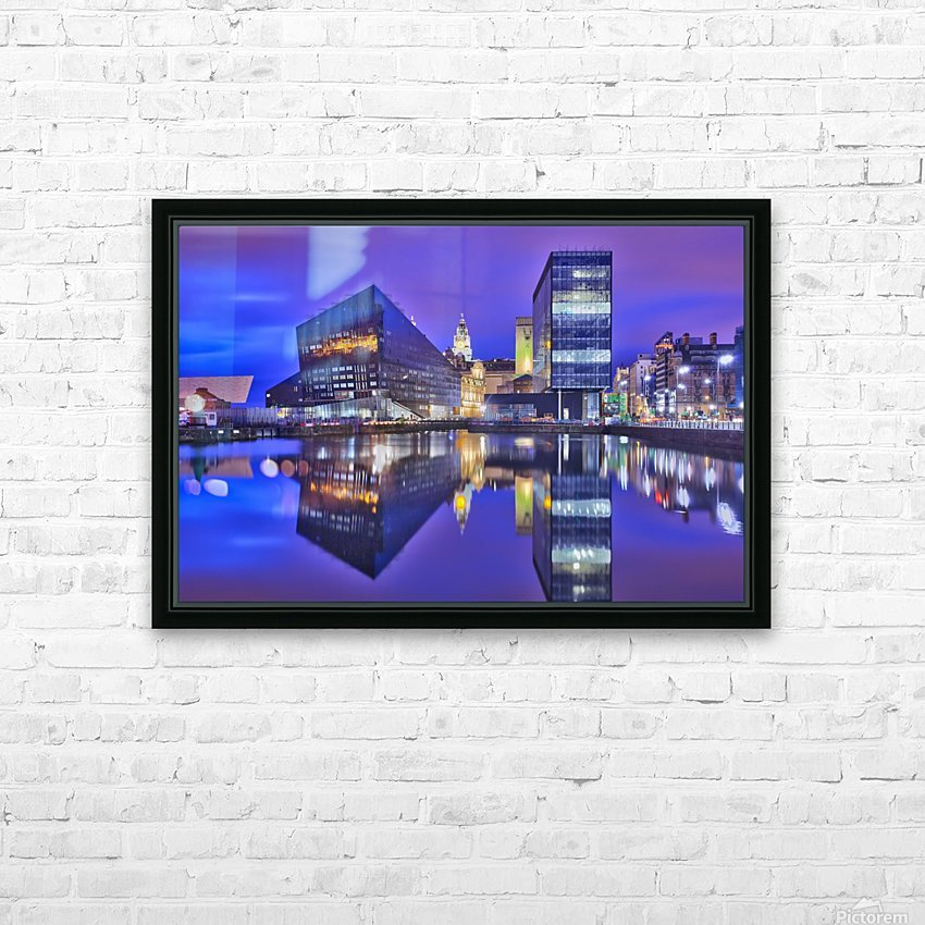LIV 004 Dock Reflections_1549590972.26 HD Sublimation Metal print with Decorating Float Frame (BOX)