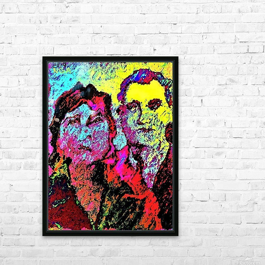 The Happily Married Couple  - by Neil Gairn Adams  HD Sublimation Metal print with Decorating Float Frame (BOX)