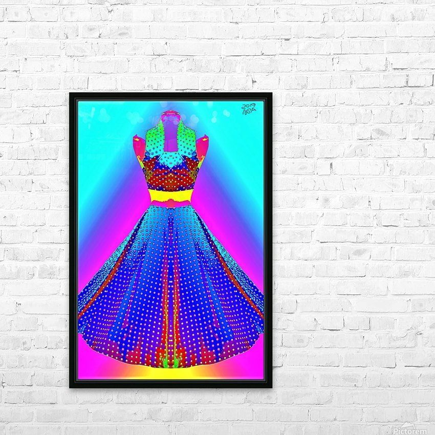 The Dress  -  by Neil Gairn Adams HD Sublimation Metal print with Decorating Float Frame (BOX)