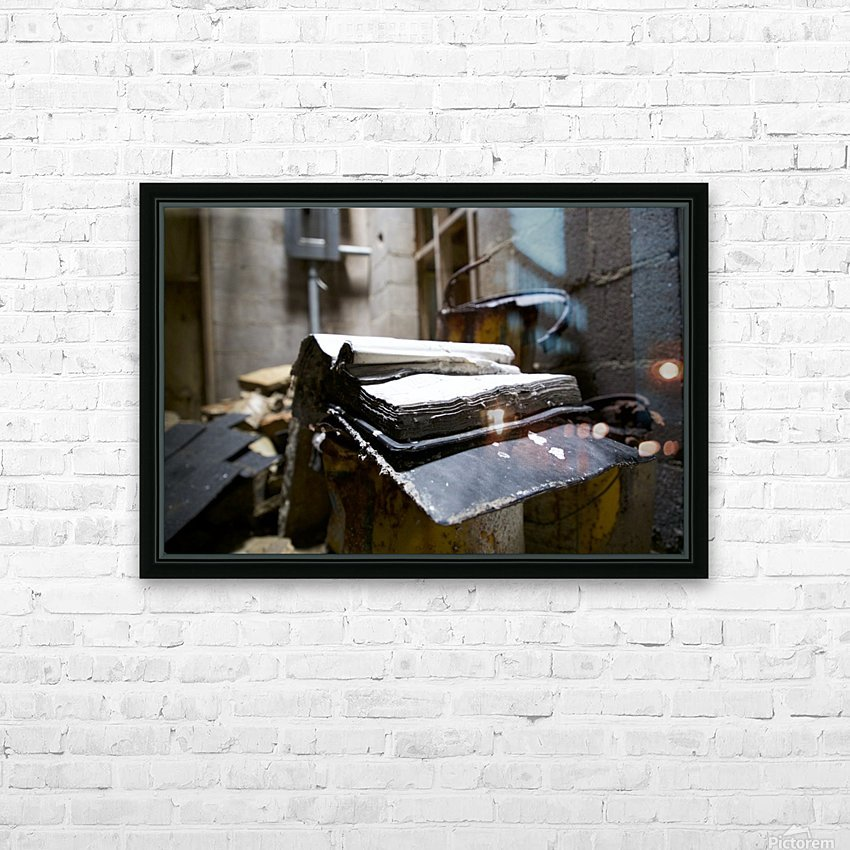 Abandoned Book HD Sublimation Metal print with Decorating Float Frame (BOX)