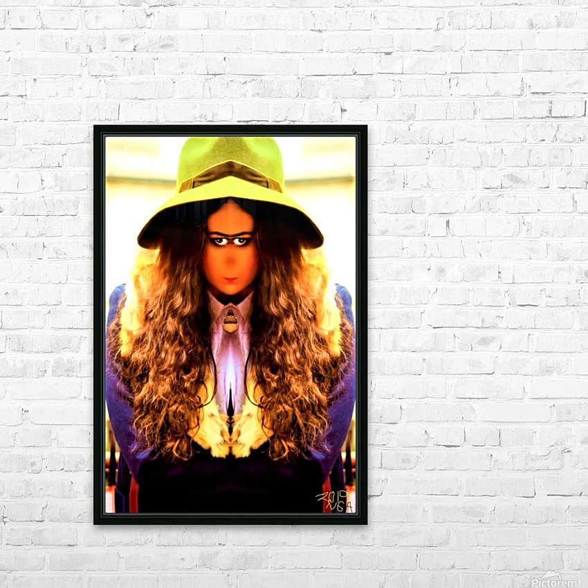 Giirl with the Green Hat -  by Neil Gairn Adams  HD Sublimation Metal print with Decorating Float Frame (BOX)