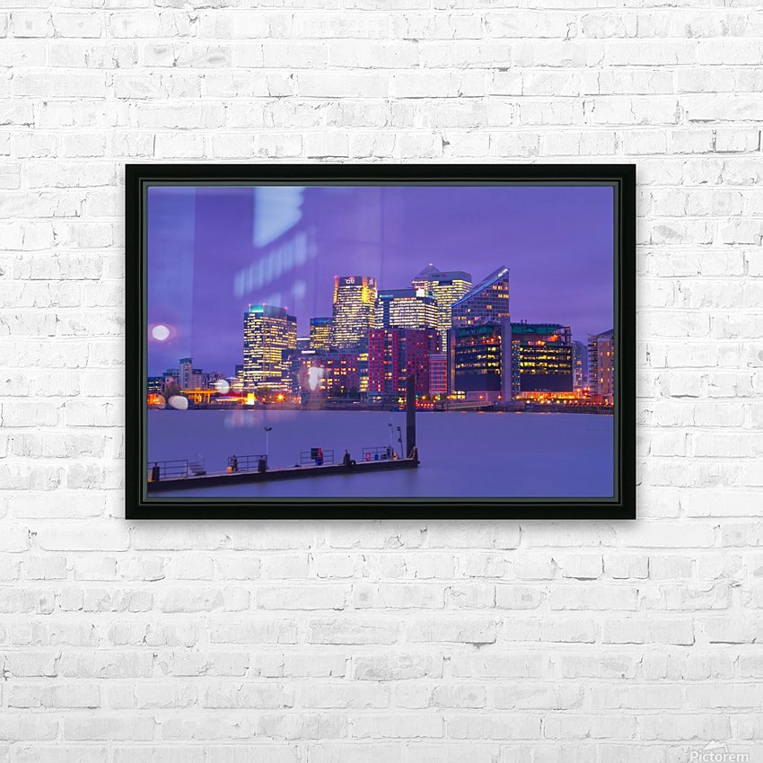 LON 007 Canary Wharf  HD Sublimation Metal print with Decorating Float Frame (BOX)