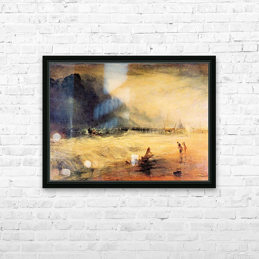 Stranded ship by Joseph Mallord Turner HD Sublimation Metal print with Decorating Float Frame (BOX)
