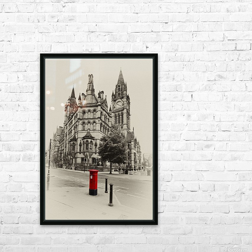 MAN 023 Manchester Town Hall HD Sublimation Metal print with Decorating Float Frame (BOX)
