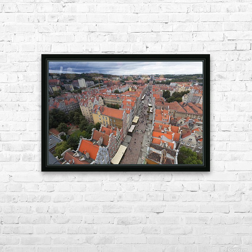 POL 012 Gdansk HD Sublimation Metal print with Decorating Float Frame (BOX)