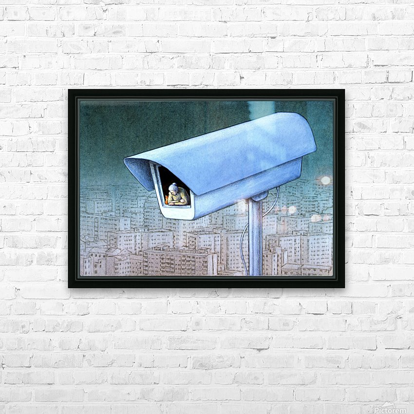 monitoring HD Sublimation Metal print with Decorating Float Frame (BOX)