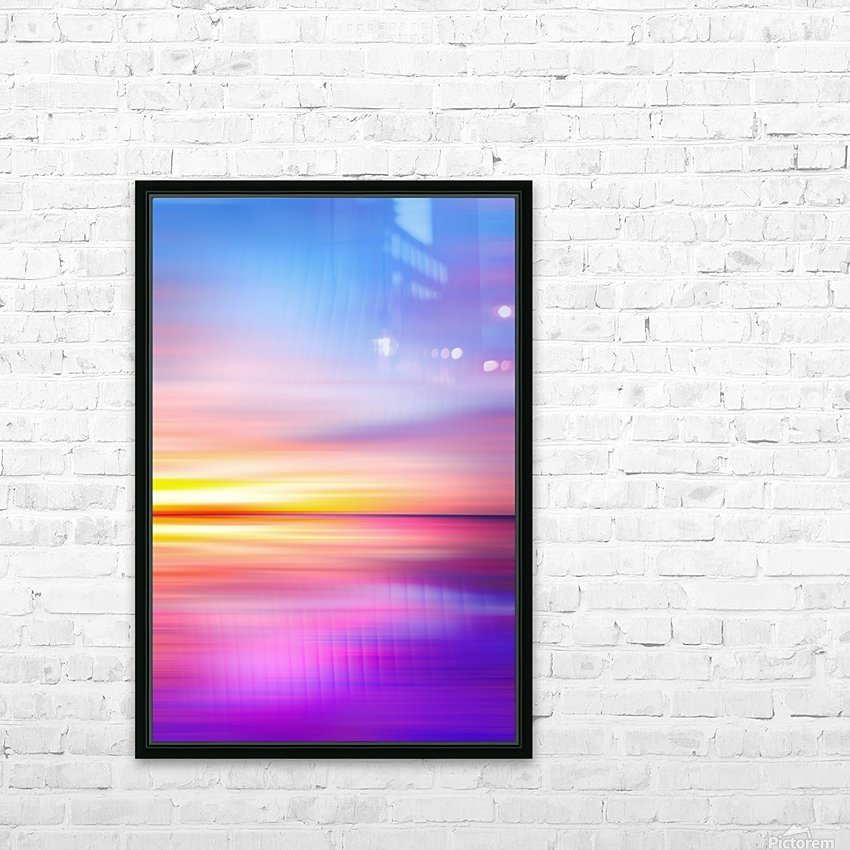 Abstract Sunset VII HD Sublimation Metal print with Decorating Float Frame (BOX)
