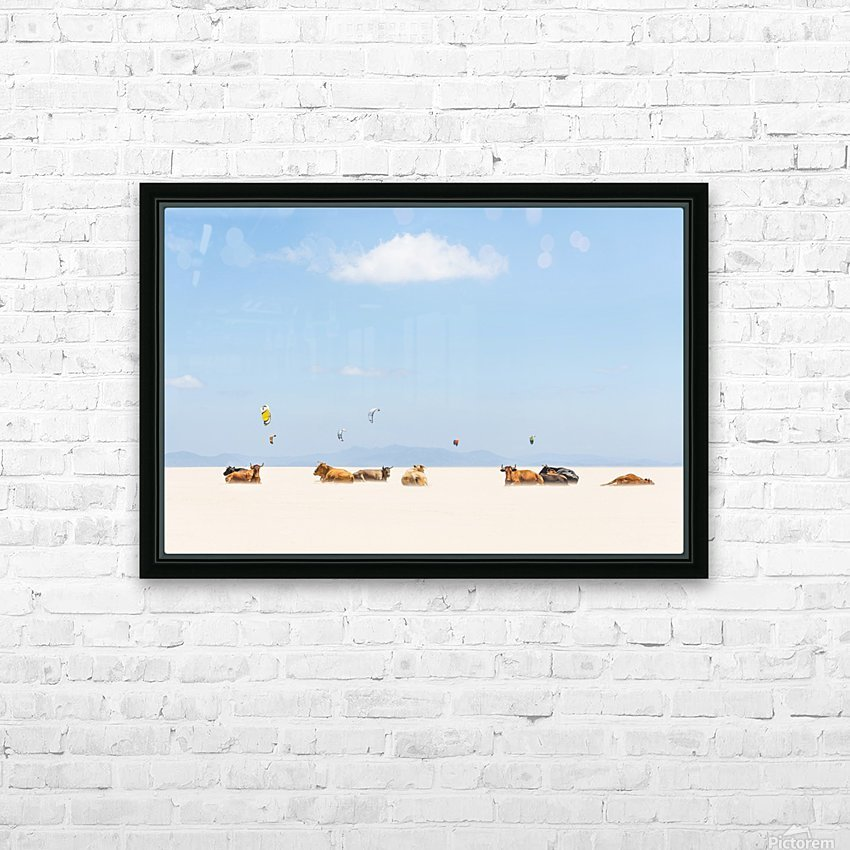 COWS AND KITES HD Sublimation Metal print with Decorating Float Frame (BOX)