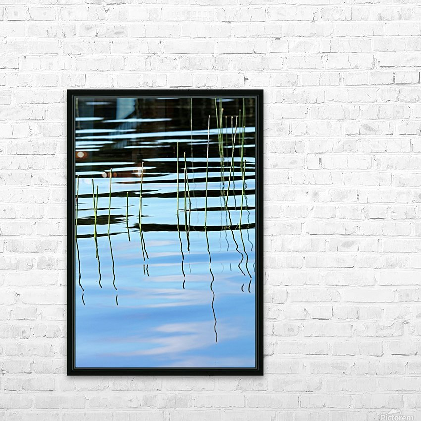 Reeds In The Shallows Abstract HD Sublimation Metal print with Decorating Float Frame (BOX)