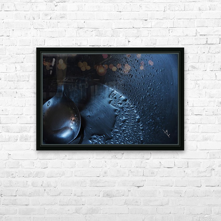 Dripping spoon HD Sublimation Metal print with Decorating Float Frame (BOX)