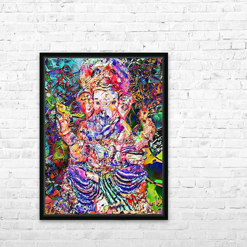 Divertido Ganesh  HD Sublimation Metal print with Decorating Float Frame (BOX)