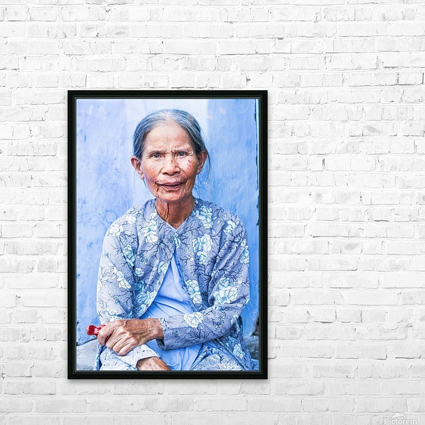 THE BLUE LADY OF HOI AN HD Sublimation Metal print with Decorating Float Frame (BOX)