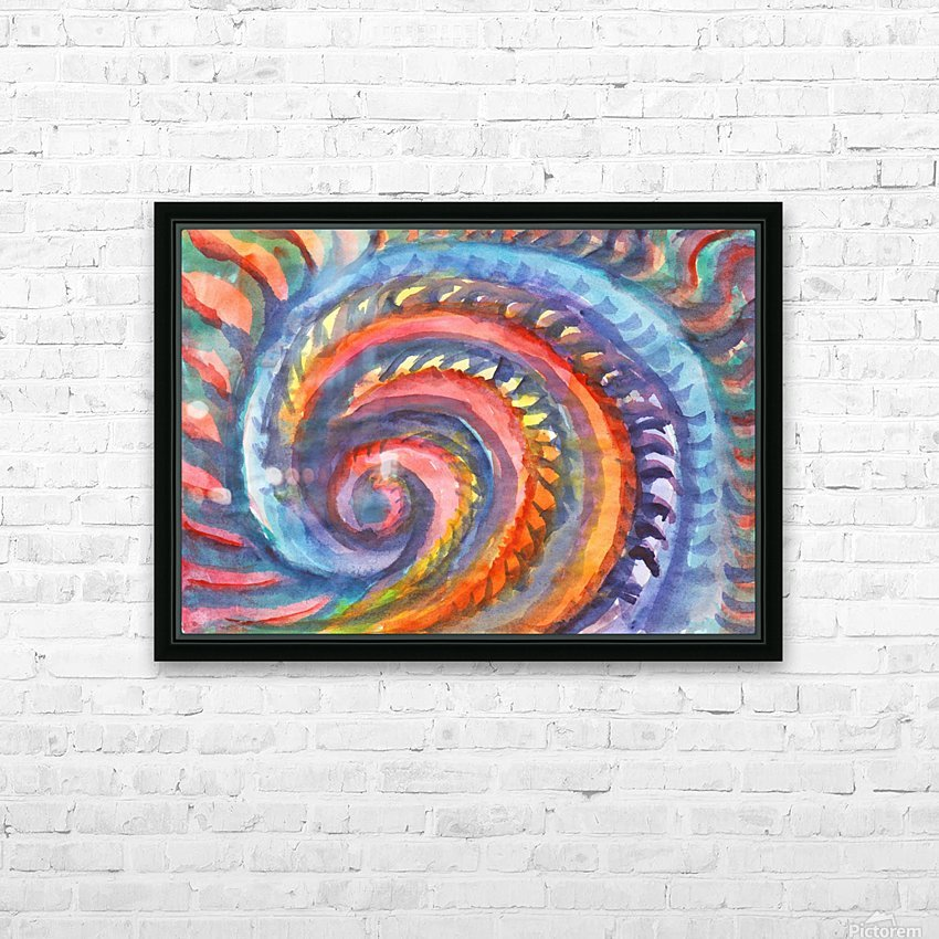 Watercolor abstract spiral staircase HD Sublimation Metal print with Decorating Float Frame (BOX)