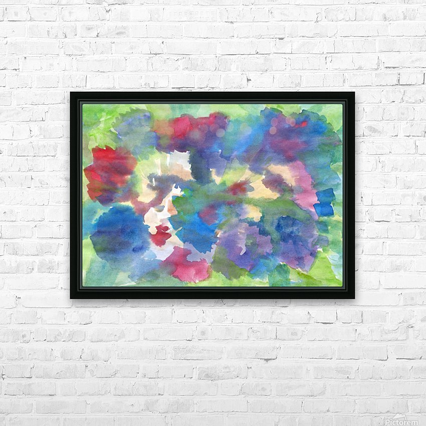 Watercolor abstraction with a blurred floral pattern HD Sublimation Metal print with Decorating Float Frame (BOX)