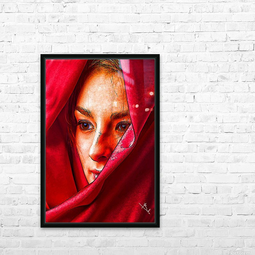 Bianca in red HD Sublimation Metal print with Decorating Float Frame (BOX)