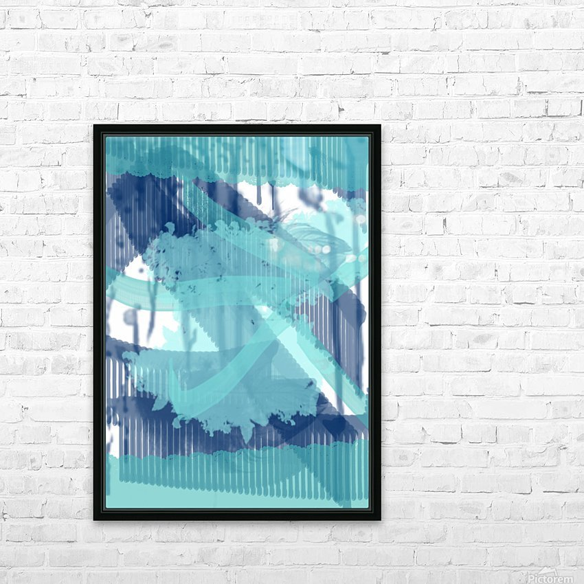 WATERCOLOR_BLUE ABSTRACKT HD Sublimation Metal print with Decorating Float Frame (BOX)