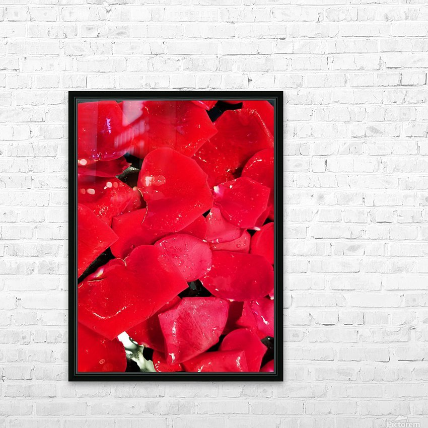 Red Roses HD Sublimation Metal print with Decorating Float Frame (BOX)