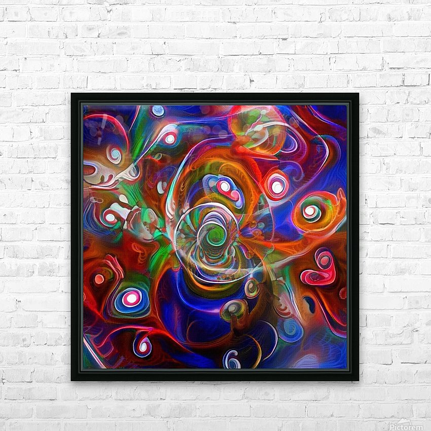 Vortex of Colors HD Sublimation Metal print with Decorating Float Frame (BOX)