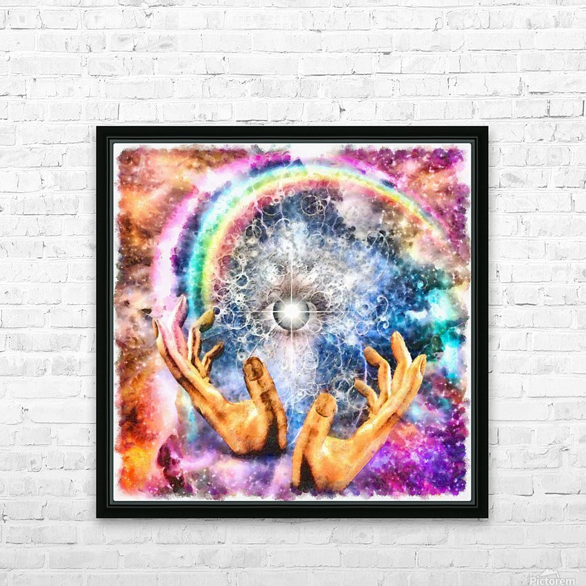 All seeing Eye HD Sublimation Metal print with Decorating Float Frame (BOX)
