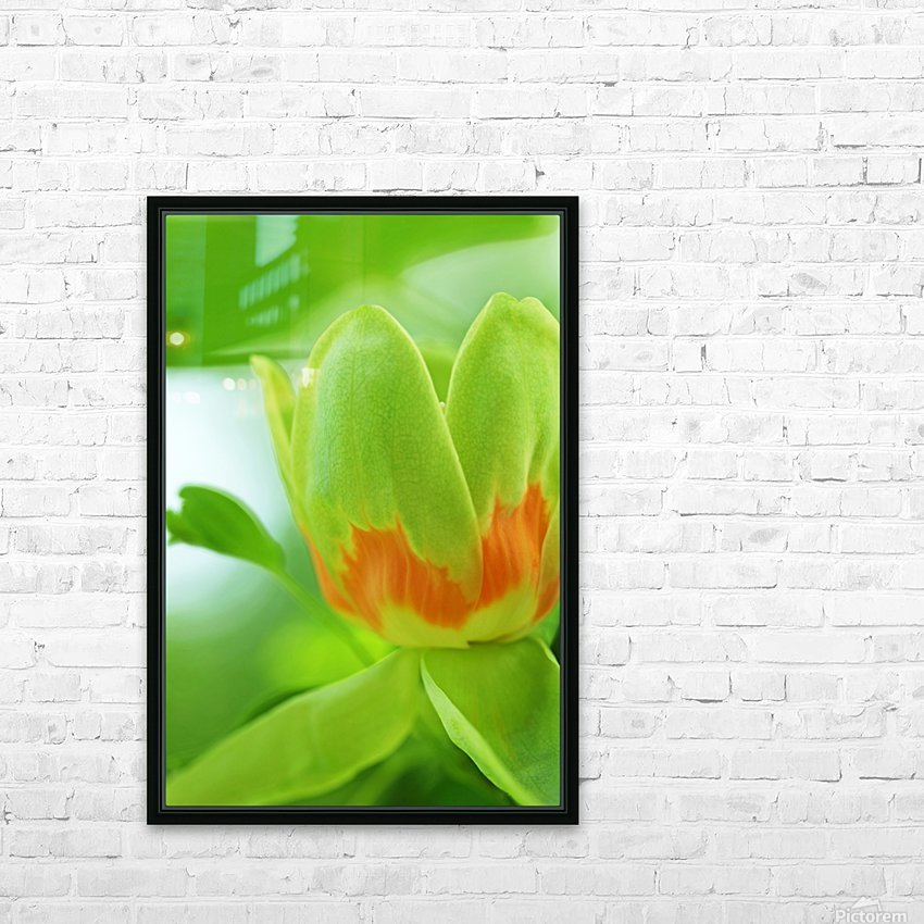 Yellow Poplar Flower HD Sublimation Metal print with Decorating Float Frame (BOX)