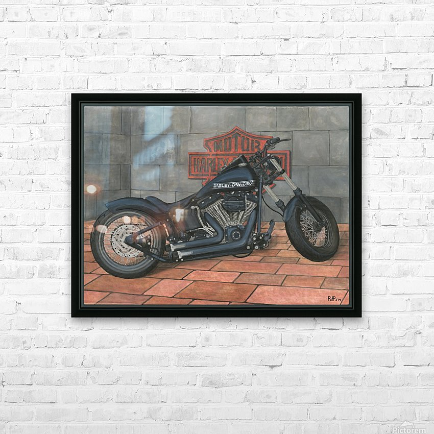 Harley Davidson Motorcycle HD Sublimation Metal print with Decorating Float Frame (BOX)
