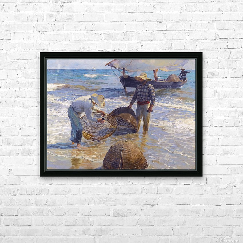 Los Pescadores Valencianos HD Sublimation Metal print with Decorating Float Frame (BOX)